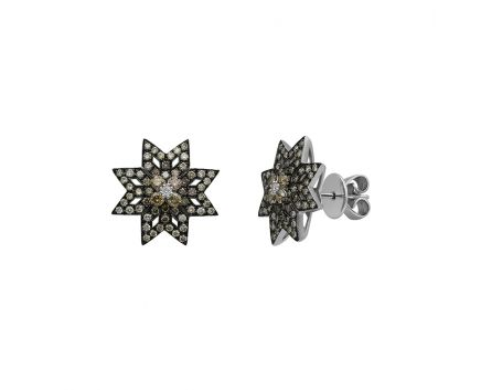 Серьги из белого золота с бриллиантами ZARINA