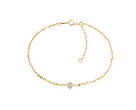Браслет Гоар з діамантом в жовтому золоті
