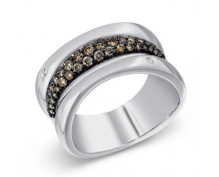 Каблучка з коньячними діамантами Неймовірна