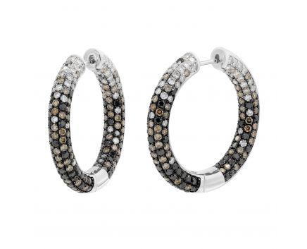 Сережки з коньячними діамантами