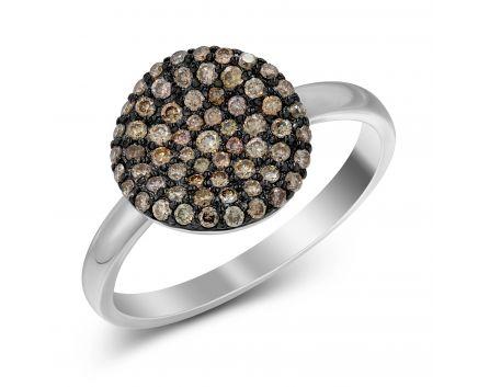 Каблучка з коньячними діамантами