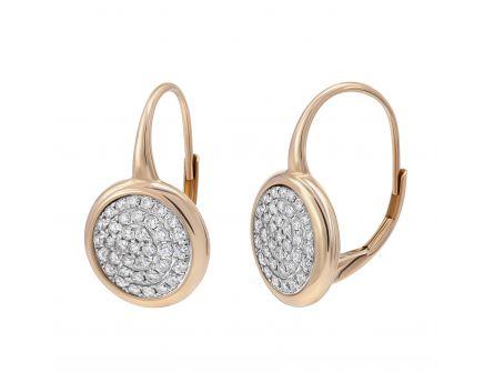 Сережки з діамантами Паве