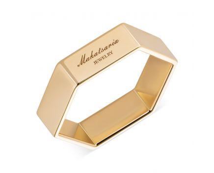 Кольцо из желтого золота Makatsaria Шестигранник
