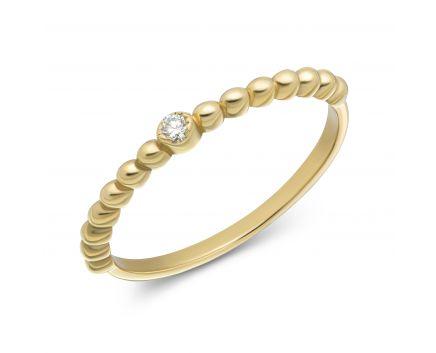 Каблучка з діамантом у жовтому золоті