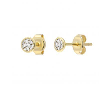 Сережки з діамантами Супутник