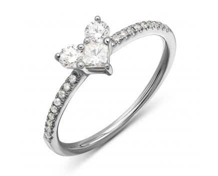 Каблучка Серденько з діамантами