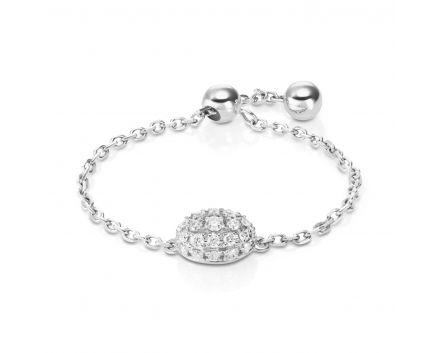 Каблучка з діамантами Лія