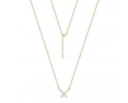 Кольє Зена з діамантами в рожевому золоті