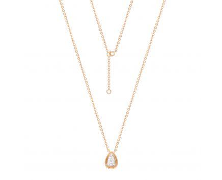 Кольє Дорі з діамантами в рожевому золоті