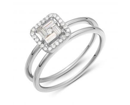 Каблучка з діамантами Пруденс