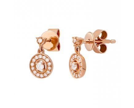 Сережки Валері з діамантами в рожевому золоті