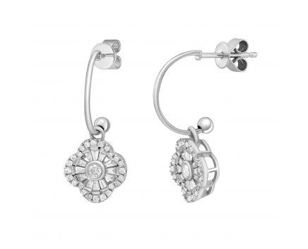 Сережки з діамантами Грація