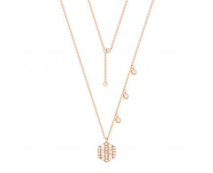 Кольє Лінда з діамантами в рожевому золоті