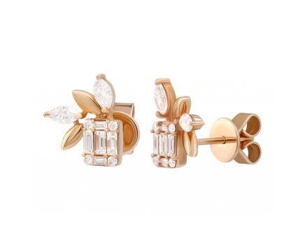 Сережки з діамантами Флора