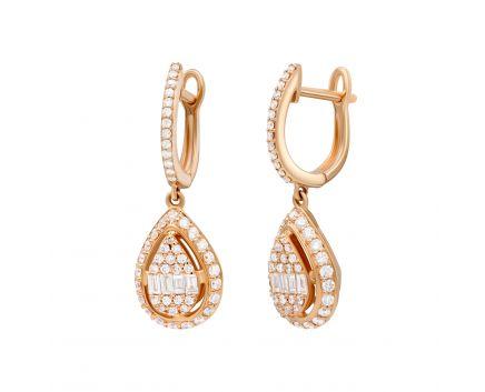 Сережки з діаманти Кенді