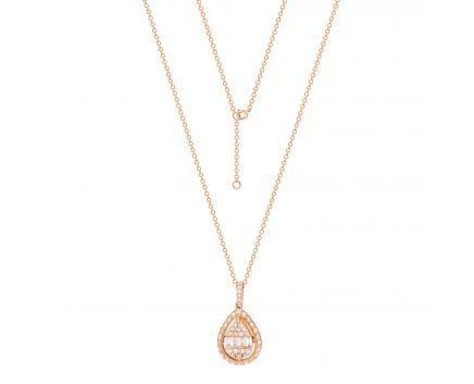 Кольє Кенді з діамантами в рожевому золоті