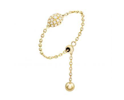 Кольцо из желтого золота с бриллиантами ZARINA