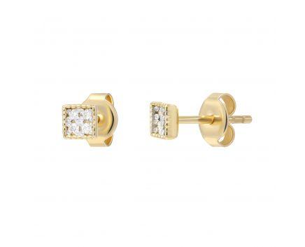Сережки з діамантами Рівновага жовте золото