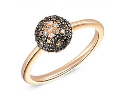 Каблучка з рожевого золота з діамантами ZARINA