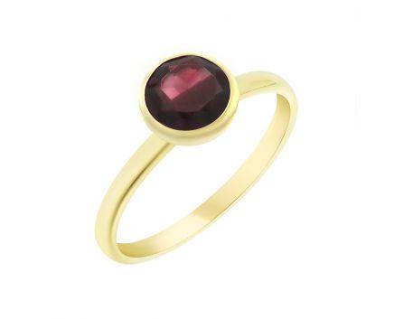 Кольцо из розового золота с гранатом