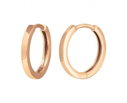 Сережки з рожевого золота Аліна