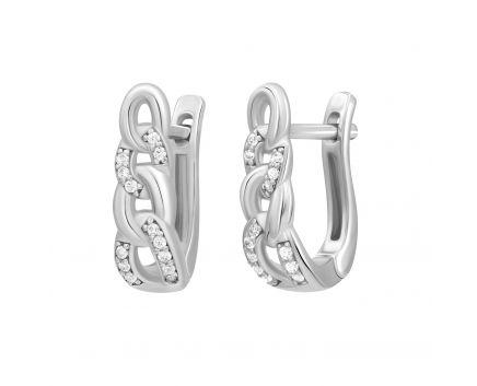 Сережки з білого золота Chains