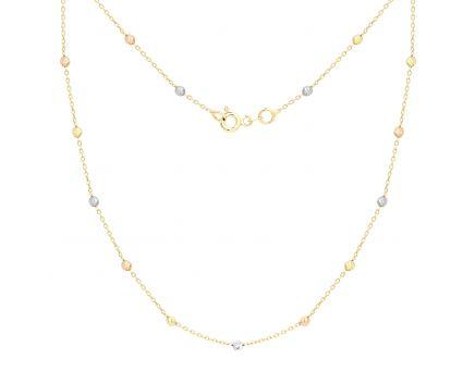 Кольє bead з білого, жовтого та червоного золота