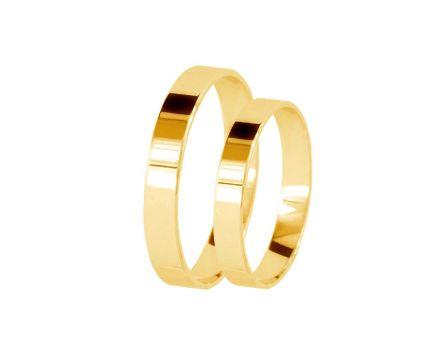 Обручка з жовтого золота Американка 3 мм