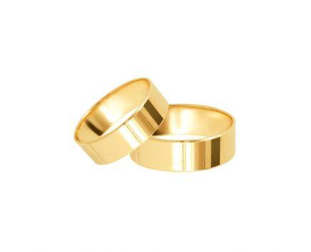 Обручка з жовтого золота Американка 5 мм