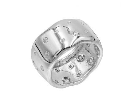 Кольцо серебряное ZARINA белый родий