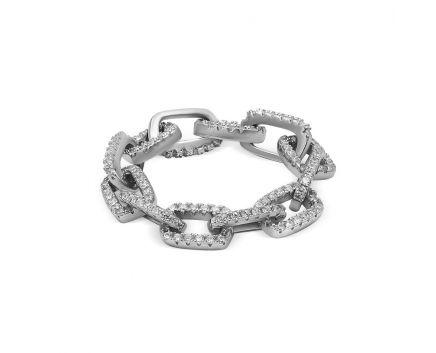 Кольцо из серебра ZARINA белый родий