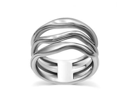 Каблучка срібна ZARINA білий родій