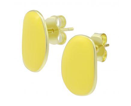 Серьги с желтой эмалью