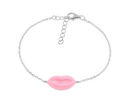 Браслет Цілунок колір світло-рожевий
