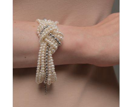Браслет масивний з перлами