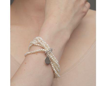 Браслет KORALI з перлами та срібною монетою