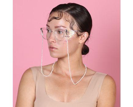 Колье-цепочка для очков с беби-жемчугом, трансформер