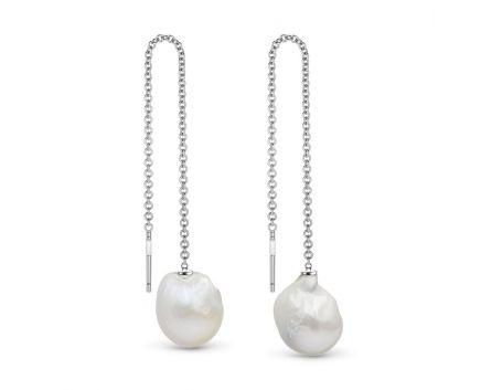 Сережки калейдоскоп кохання срібні з перлами ZARINA
