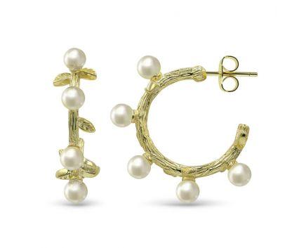 Сережки срібні з перлами ZARINA