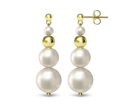 Сережки срібні з перлинами ZARINA