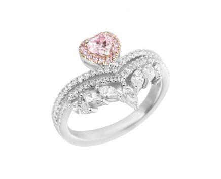 Каблучка Серденько рожевий