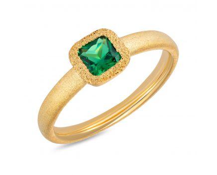 Кольцо серебряное ZARINA желтый родий