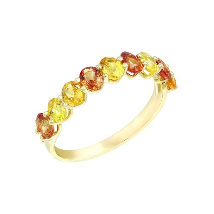 Кольцо из желтого золота с бриллиантами и сапфирами ZARINA