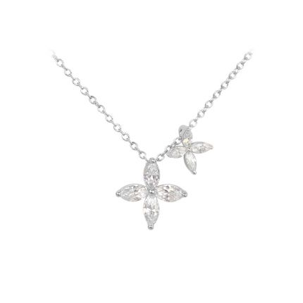 Кольє срібне з фіанітами NATKINA Квітка