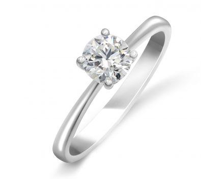 Каблучка з білого золота з діамантом