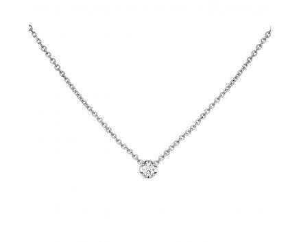 Кольє з білого золота з діамантом ZARINA