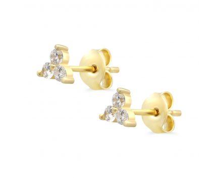 Сережки з жовтого золота