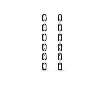 Сережки срібні ZARINA білий родій